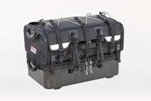 Tanax moto au sol-siège-sac, Nylon, PVC cuir + Polycarbonate base, capacité: 70L (18Gal) (40 L + 30 L), modèle MFK-222 – noir