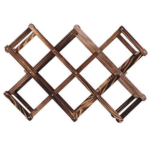 Alta calidad Clásica de madera vino rojo Rack 10 soporte de la botella de montaje estante de exhibición de la barra de la cocina de alta calidad elegante