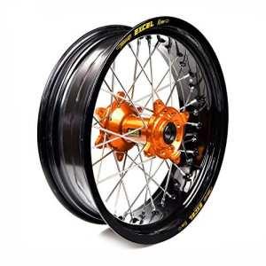HAAN WHEELS-roue complète jante Noir 17-5,00 moyeu Orange 36009/3/10