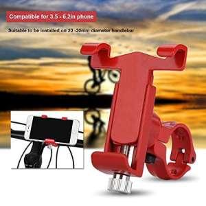 Haofy Le support réglable de téléphone de guidon de vélo d'alliage d'aluminium tient le support de support de Smartphone(自行车款红色)