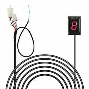 Indicateur de Vitesse étanche pour Moto Affichage LED Plug & Play pour Honda (Rouge – Honda Vieux Modèle)