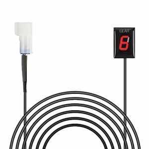 Indicateur de Vitesse étanche pour Moto Affichage LED Plug & Play pour Kawasaki (Vieux modèle LED rouge)