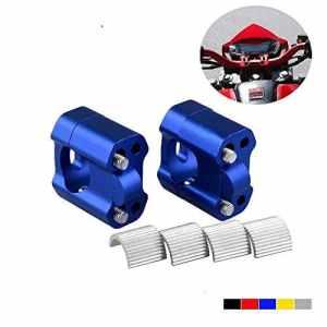Poignée universelle 1 1/8″7/8″ 28,3mm et 22mm pour guidon Dirt Bike Motocross (coloré : Bleu)
