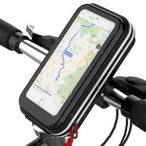 Support de téléphone pour guidon de vélo – anti-secousses, anti-chutes – rotation à 360° – étanche – moins de 15,7 cm, Universal Phone Holder