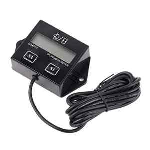 Tachymètre numérique compteur d'heures tachymètre RPM heure mètre pour moteur à essence à deux ou quatre temps