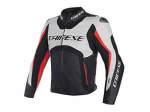 Veste Cuir Dainese d-air Misano 2017 48 BIANCO-NERO-ROSSO FLUO