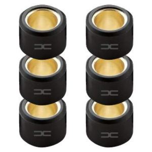(6x) GALET DE VARIATEUR 15x12MM 3.0G A 9.0G SCOOTER MBK BOOSTER NITRO OVETTO STUNT YAMAHA BWS AEROX NEOS MOTO MOBYLETTE TENDEUR ROULEAU (4.5G)