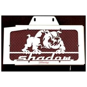cache radiateur/grille de radiateur VT 125 Shadow design Bulldog + grillage rouge