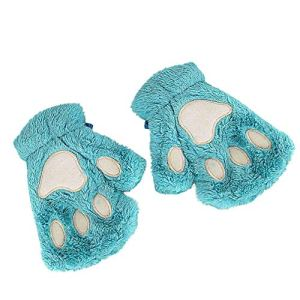 conqueror Hiver automne gants chauds gants en tricot à doigts Le réchauffeur de bras de poignet d'hiver de femmes a tricoté le long clavier les gants sans doigts mitaine