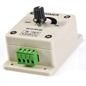 Dimmer ou variateur d'intensité pour LED de 8A 8 ampères 12V DC