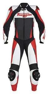 Furygan Cuir Combinaison complète Apex, Blanc/rouge, taille 58