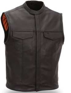 GILET CUIR SOA 762 Taille S