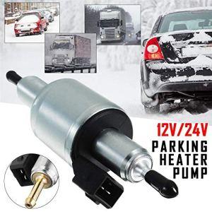 Hete-supply Pompe à Carburant électrique Universelle 12V / 24V, Kit de Pompe à Carburant électrique en Ligne Diesel/Essence Pompe à Carburant pour Chauffage de stationnement en air