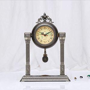 LIJIANGUO Mode De Luxe Horloge Métal Tridimensionnel Relief Art De La Personnalité Salle De Séjour