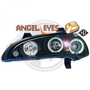 phares design, noir, anneaux TIGRA, de 1994 à 2000 anneaux de pos., noir ANGLE EYES pour réglage électrique H1+H1