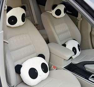 Sedeta Lovely Lovely Cute Panda Modeling Cars Rest Pillow Cushion pour jouets Kids Gift Pad Coussin en bambou tapis de cou Orthèses jugulaires Coussin de repos oreiller