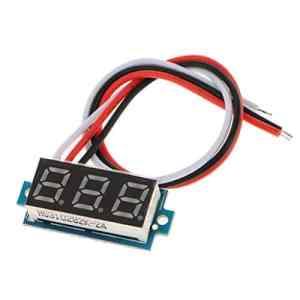Sharplace Voltmètre Numérique DC 0-100V LED Véhicules Voltmètre Panneau De Tension