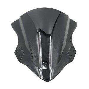Alpha Rider Moto ABS Pare-Brise Pare-Brise Déflecteur d'air pour Kawasaki Ninja 250400Ninja250Ninja4002018Noir