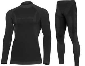 DRYTECH Thermo Set Sous-Vêtement de Fonction Long Hommes – Sans Couture Bodymapping (Black, M)