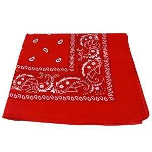 Echarpe à motifs cachemire noir et blanc des deux côtés, Red, Lot de 2
