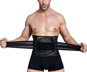 Hommes Corset Serre Taille Ventre Minceur Skinny Elastique Noir L