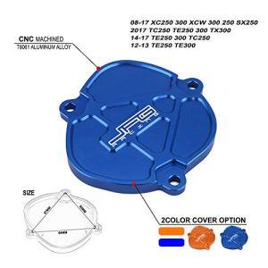 JFG RACING CNC contrôle Coque Cylindre Carafe Top End Husqvarna TC 25014–17, Tc2502017, Te 25014–17, Te 30014–17, Te2502017, Te3002017, TX3002017, Bleu