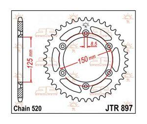 KTM SX SXF MX EXC EXCF -COURONNE ACIER 48 DENTS JTR897-48