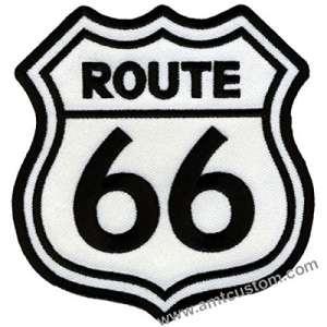 Patch écusson route 66 pour blouson et veste