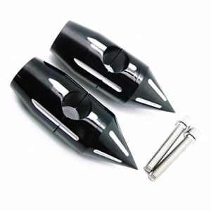 Riser Noir 1 Pouce Spike Billet pour Harley Sportster Softail Dyna XL FL 883 1200 Honda Kawasaki Suzuki Yamaha Vintage