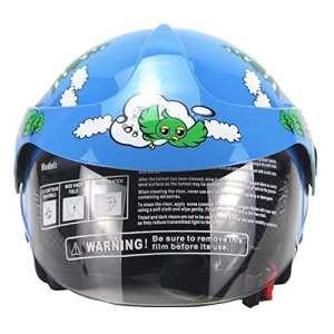 Yves25Tate Casque de Moto Enfant ,Personnalité Quatre Saisons Casque de sécurité pour Enfants,52/53 cm