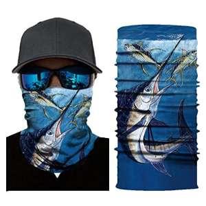 Zariavo Store Fish Series Masque de moto multifonction résistant à la poussière et au vent Idéal pour la course à pied, l'équitation, la randonnée, le cyclisme