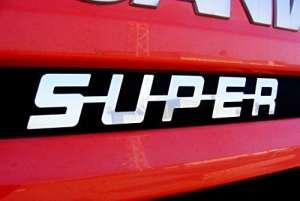 1x Panneau avant en métal en acier poli inoxydable unique Super Décoration pour Scania série camions tous les