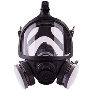 ACLBB Masque À Gaz Complet, Respirateur Professionnel À Vapeur Organique pour Peinture, Poussière, Produits Chimiques, Protection Contre Les Pesticides