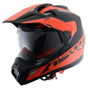 Astone Helmets Casque Tourer Adventure, Rouge/Noir, L