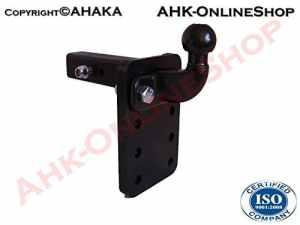 ATTELAGE remorque Adaptateur USA-Voitures 50x50mm réglable en hauteur ISO 50 boule