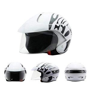 Casque pour enfants, demi-casques Harley de motocyclette électrique pour enfants, idéal pour le vélo de planche à roulettes BMX et le scooter de cascade