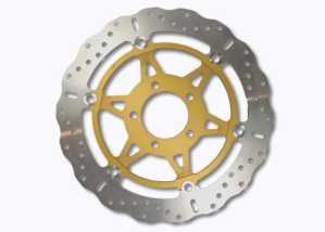 EBC disque de frein (iNOX) aux xC-disque avec certification aBE ø = 296 mm/disque de frein en acier inoxydable avec une flottante en aluminium-moyeu
