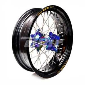 HAAN WHEELS-roue complète jante Noir 17-5,00 moyeu 56209 Blue 1/3/5