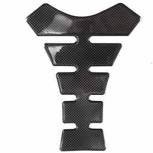 Hamimelon – Protection de réservoir de moto 3D – Noire, blanche, rouge – Universelle – Auto-adhésive et flexible