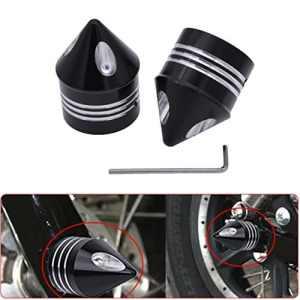 KaTur Moto Noir Deep Cut essieu Avant écrou Capuchon Coque pour Harley Dyna Softail Sportster Touring Road King FXD Fxst Flht 8831200XL