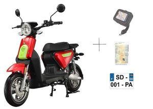 Scooter CKA EXPRESS ROUGE électrique batterie Lithium amovible 10ans garantie (2 PLACES)