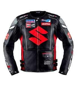 Suzuki Noir Racing Veste en cuir (XXL (EU58))