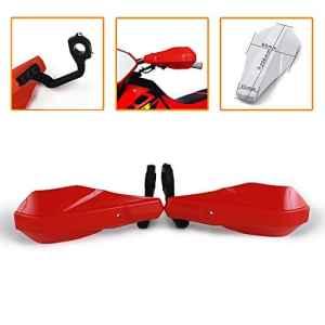 Un Xin Protège-mains 7/20,3cm et 11/20,3cm protection de la main Guidon Brosse protection pour Honda CRF50CR80de radar Crf110Cr125r Cr250r Cr500r Crf150r Crf150F Moto Dirt bike Pit Bike (Rouge)