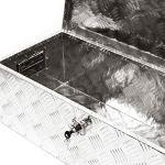 WilTec Caisse à Outils Aluminium 760x320x245mm Malle de Transport Boite à Outils Malette de Rangement