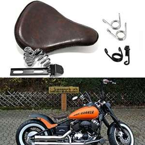 13» Moto Custom Cuir Solo Selle Sièges Support Kit avec Ressorts Marron pour Harley-Davidson Electra Glide