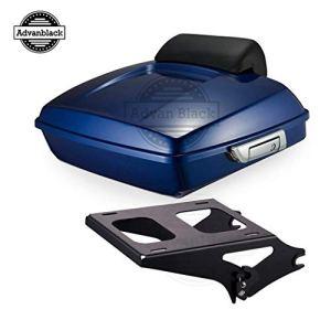 Advanblack Supérieur Bleu Émincé Tourisme Pack 2 Chrome Fit Montage en Rack pour 20092018 Harley Davidson Tournée Rue Glisse Spéciale Bleu Supérieure