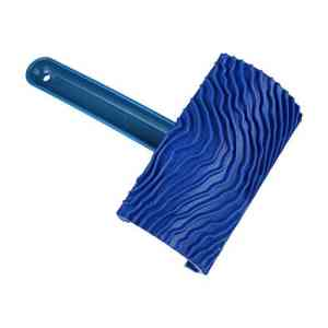 Art Coating Tool Rubber Wood Graining Pattern Wall Painting Decoration DIY Blue with Handle Tools Types Effects Texture Home Decor Rocker ridged and Comb Toothed Edge Grain empaistic Stamp