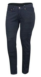 Bikers Gear Australia, Jeans de Moto pour Femmes CE Genou Armure KEVLAR Stretch Denim, Noir, EU 38R (UK 10R, S)