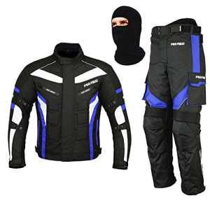 Combinaison de Moto Moto Moto Hommes Armored Costume 2 Pièces Costume Imperméable Veste + Pantalon CE Armure pour Tous Les Temps
