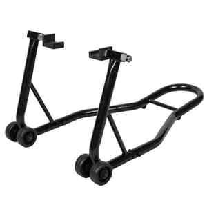 COSTWAY Béquille Moto pour Roue Arrière Béquille d'Atelier Support de Roue Paddock Moto avec Bras Réglable